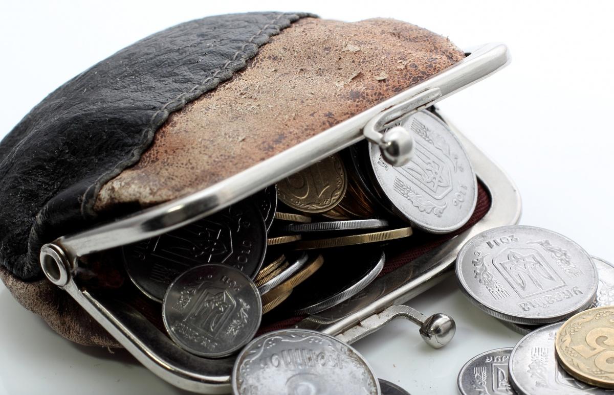 Гаманець з монетами