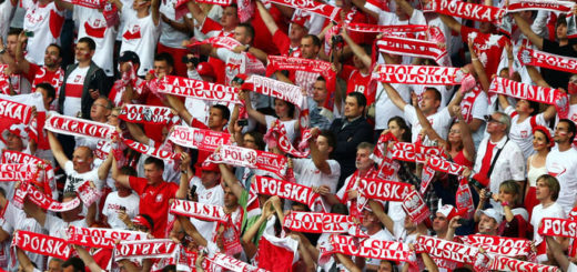 WARSAW, POLAND - JUNE 12: Polish fans show their support during the UEFA EURO 2012 group A match between Poland and Russia at The National Stadium on June 12, 2012 in Warsaw, Poland.  (Photo by Michael Steele/Getty Images)