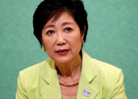 Former defense minister Yuriko Koike, a candidate planning to run in the Tokyo Governor election, attends a joint news conference with other potential candidates at the Japan National Press Club in Tokyo, Japan July 13, 2016.  REUTERS/Issei Kato