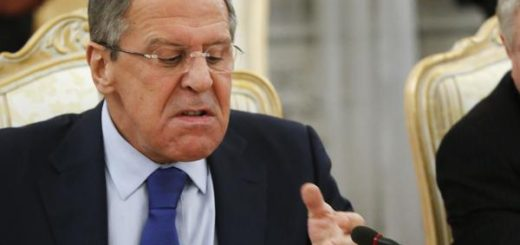 Russia's Foreign Minister Sergei Lavrov reacts during a meeting with his German counterpart Frank-Walter Steinmeier (not pictured) in Moscow November 18, 2014. Steinmeier said he would assess the chances of making progress to end the crisis in Ukraine during talks in Moscow on Tuesday but Russia said it saw no chance of a breakthrough. REUTERS/Sergei Karpukhin (RUSSIA  - Tags: POLITICS)