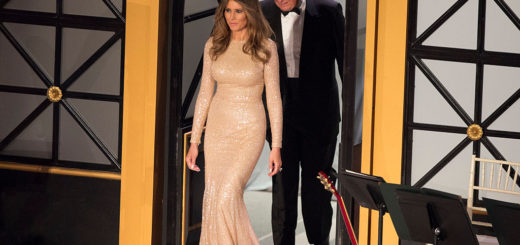WASHINGTON, DC - JANUARY 19:  President-elect Donald J. Trump and wife Melania Trump arrive for the Indiana Society Ball to thank donors January 19, 2017 in Washington, DC.  (Photo by Chris Kleponis-Pool/Getty Images)