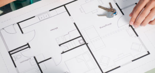 House plan with keys